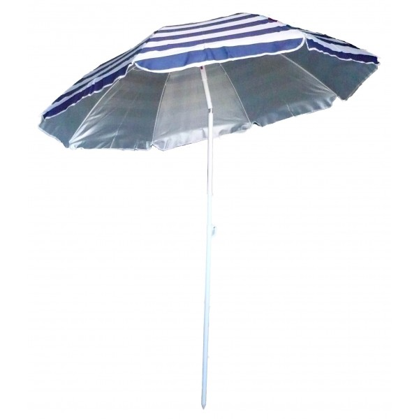 parasol de plage anti uv ray bleu blanc marini re avenue de la plage. Black Bedroom Furniture Sets. Home Design Ideas