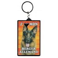 Porte clef 3D J'aime mon Berger Allemand, modèle B.