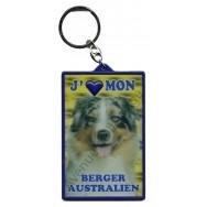 Porte clé 3D J'aime mon Berger Australien