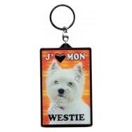 Porte clé 3D J'aime mon Westie