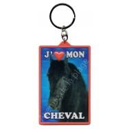 Porte clé 3D J'aime mon Cheval