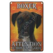 Plaque 3D Attention je monte la garde - Boxer, modèle A.