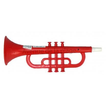 Trompette rouge pour enfant en plastique