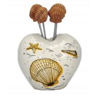 Piques à bulots coquillages avec support coeur