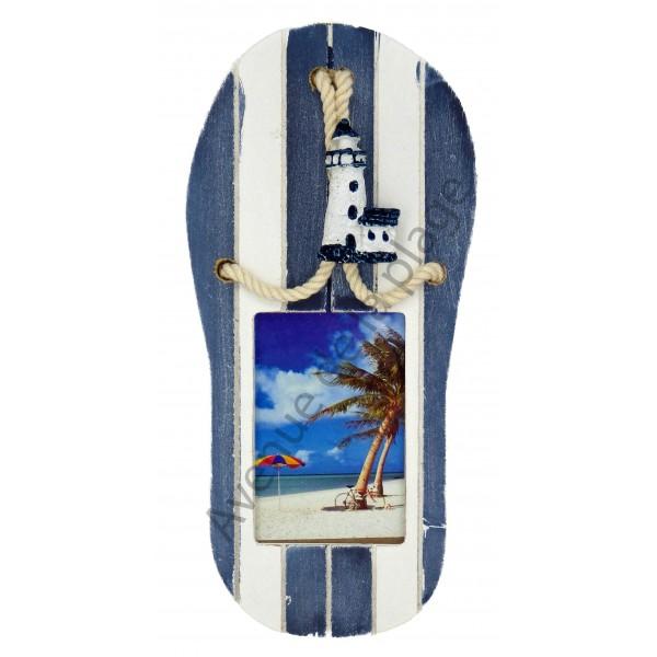cadre photo format tong pas cher achat vente avenue de la plage. Black Bedroom Furniture Sets. Home Design Ideas