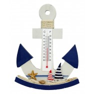 Thermomètre balancier ancre de bateau