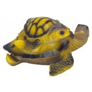 Tortue de mer et son petit sur le dos 12 cm