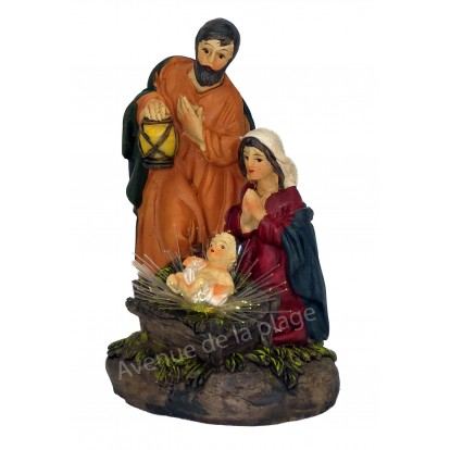 Crèche de Noël lumineuse Jésus, Marie et Joseph, modèle A.