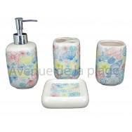 Set salle de bain coquillages