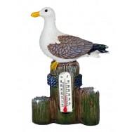Thermomètre mouette sur piquets
