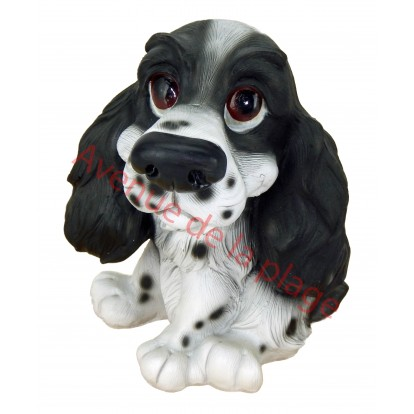 Statuette chien humoristique cocker, modèle A.