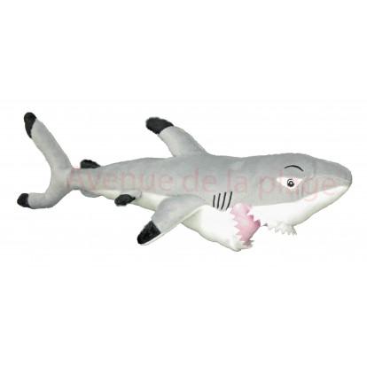 Peluche requin blanc 53 cm