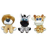 Peluche animal de la jungle 17 cm