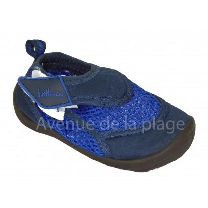 Chaussures néoprène bleues pour garçon, taille 22 au 27.
