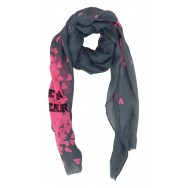 "Foulard coeur ""Love live in my heart"""