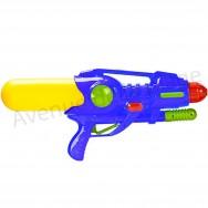 Grand pistolet à eau pression 45 cm bleu - Jeux de plage