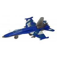 Avion de chasse en métal 10 cm