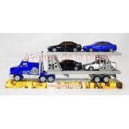 Camion semi remorque + 4 voitures 32 cm