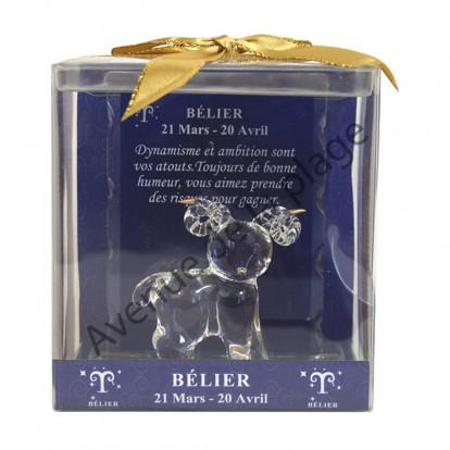 Figurine horoscope Bélier en verre