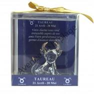 Figurine horoscope Taureau en verre