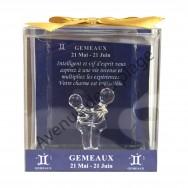 Figurine horoscope Gémeaux en verre