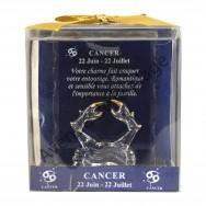 Figurine horoscope Cancer en verre