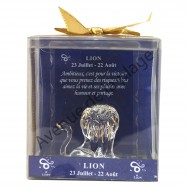 Figurine horoscope Lion en verre