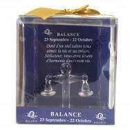 Figurine horoscope Balance en verre