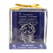 Figurine horoscope Scorpion en verre