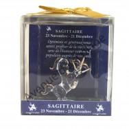 Figurine horoscope Sagittaire en verre