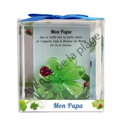 Figurine Trèfle porte-bonheur Papa
