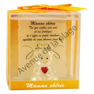 Figurine Ours porte-bonheur Maman Chérie