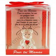 Figurine Ours porte-bonheur Pour toi Maman