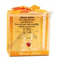 Figurine Ours porte-bonheur Mamie Chérie