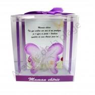 Figurine Papillon porte bonheur Maman chérie