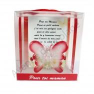 Figurine Papillon porte bonheur Pour toi Maman