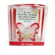 Figurine Papillon porte bonheur Je t'aime