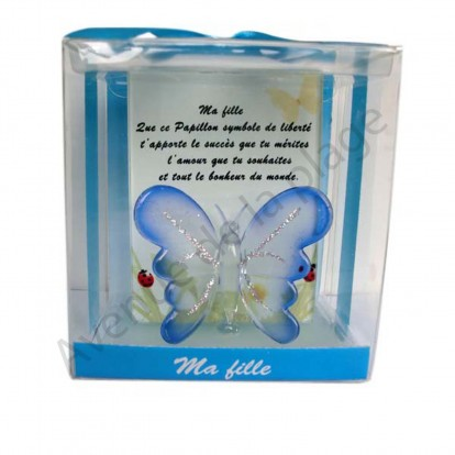 Figurine Papillon porte bonheur Ma Fille