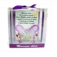 Figurine Papillon porte bonheur Marraine chérie