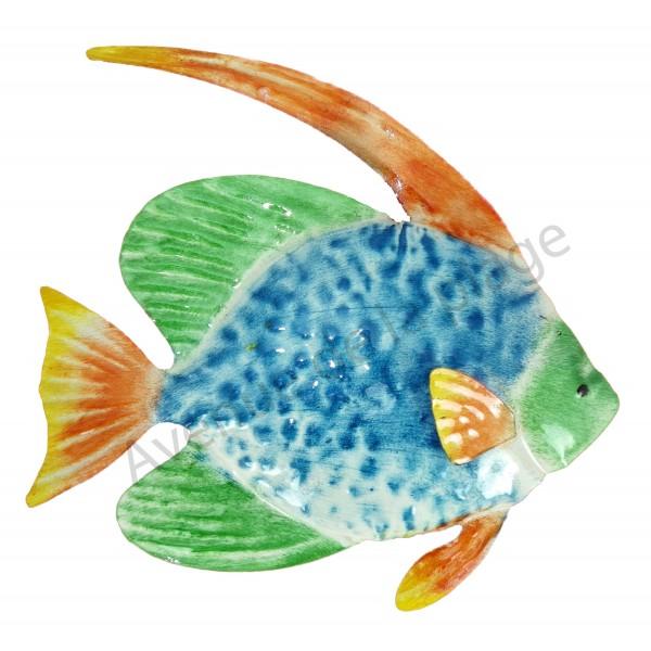 Poisson m tal accrocher d coration murale avenue de for Acheter poisson