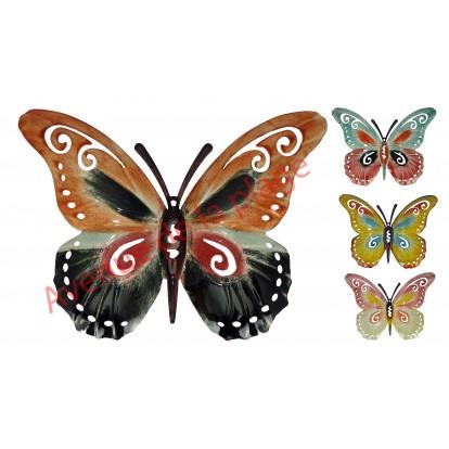 Papillon métal à accrocher - Décoration murale