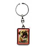 Porte clef chien J'aime mon Bullmastiff