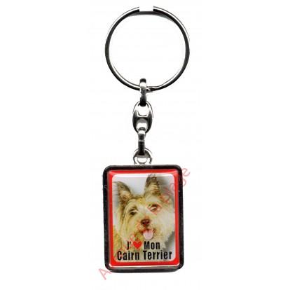 Porte clef chien J'aime mon Cairn Terrier