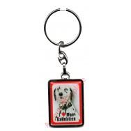 Porte clef chien J'aime mon Dalmatien