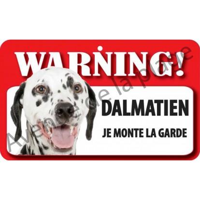 plaque attention au chien dalmatien achat vente avenue de la plage