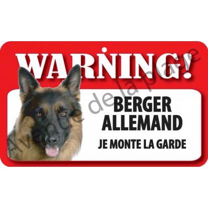 Plaque Attention au chien - Berger Allemand - Avenue de la
