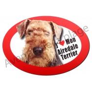 Magnet J'aime mon Airedale Terrier