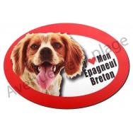 Magnet J'aime mon Epagneul Breton