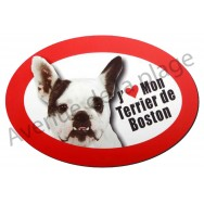 Magnet J'aime mon Terrier de Boston