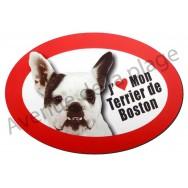 Magnet J'aime mon Terrier de Boston